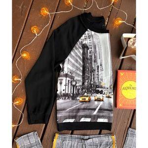 Long Sheer Sleeve Blouse Size XLarge